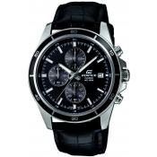 Montre Casio EDIFICE EFR-526L-1AVUEF - Montre Chrono sport cuir Homme