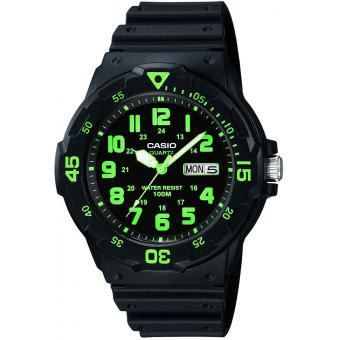 Montre Casio Collection MRW-200H-3BVEF - Montre Etanche noir vert Mixte