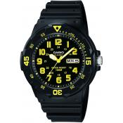 Montre Casio Collection MRW-200H-9BVEF - Montre Etanche noir jaune Mixte