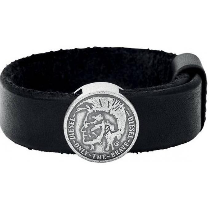 bracelet diesel bijoux high and cuffs dx0715040 bracelet cuir et acier homme sur bijourama. Black Bedroom Furniture Sets. Home Design Ideas