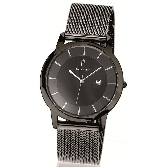 montre pierre lannier 264c388 montre grise bracelet. Black Bedroom Furniture Sets. Home Design Ideas