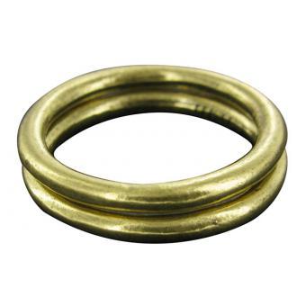 Lot de 2 Bagues Fantaisie Bronze - UBU - Ubu