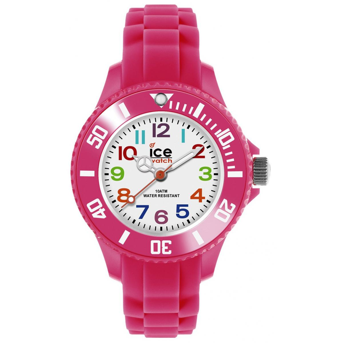 Montre Ice Watch Ice-Mini MN.PK.M.S.12 - Montre Enfant Rose Fluo Silicone