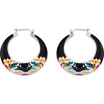 Boucles d'oreilles Rondes Noires - Kenzo - Kenzo