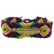 Bracelet Brésilien & Plume Vermeil N°4