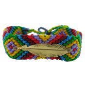 Bracelet Brésilien & Plume Vermeil N°5