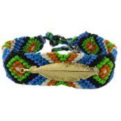 Bracelet Brésilien & Plume Vermeil N°13