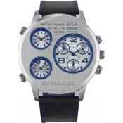 Montre Serge Blanco Chrono Grise Bleue SB1132-3