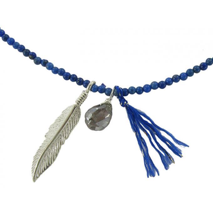 collier plume pandora
