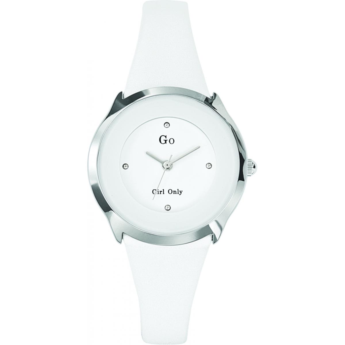 Montre Go Girl Only 697964 - Montre Ronde Blanche Femme