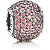 Pandora - Charm Pavé Rose Pandora - Bijoux Pandora - Collection Deco