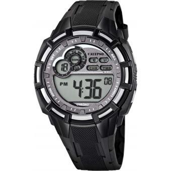 Montre Calypso K5625-1 - Montre Sport Digitale Grise Homme