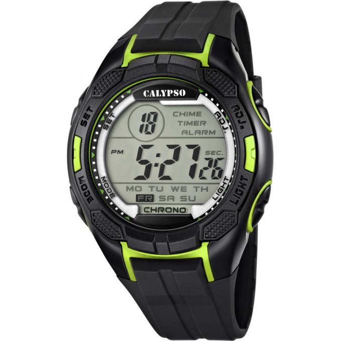 montre calypso k5627 4 montre sport digitale verte homme sur bijourama montre homme pas cher. Black Bedroom Furniture Sets. Home Design Ideas