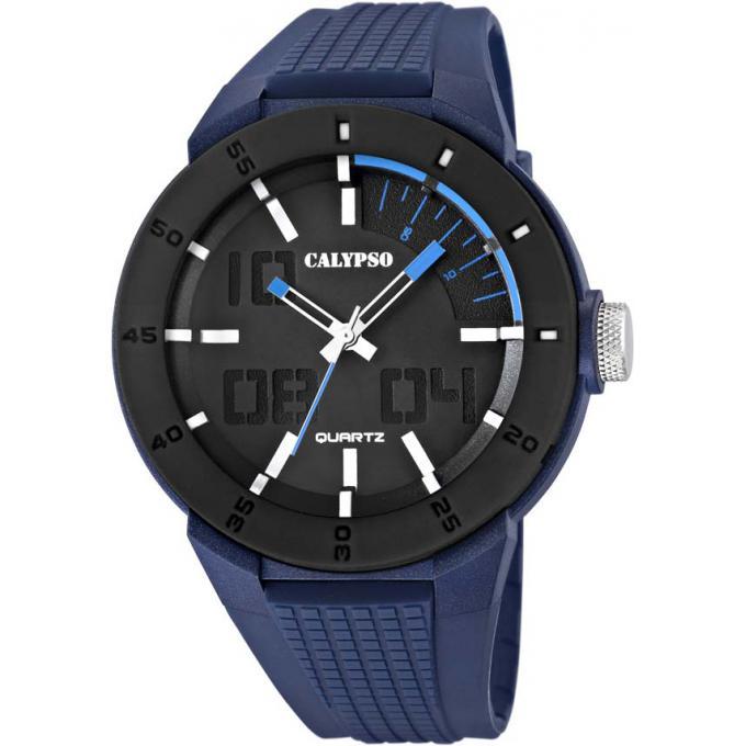 montre calypso k5629 3 montre sport noire bleue homme sur bijourama montre homme pas cher en. Black Bedroom Furniture Sets. Home Design Ideas