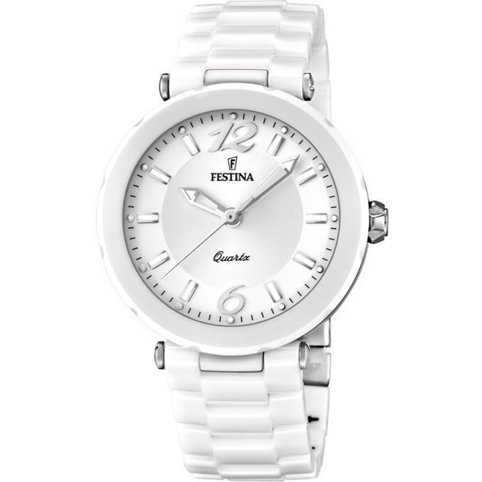 montre festina ceramic f16640 1 montre c ramique blanche argent e femme sur bijourama montre. Black Bedroom Furniture Sets. Home Design Ideas