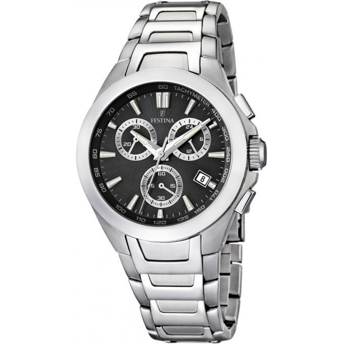 montre festina f16678 6 montre chrono acier grise homme sur bijourama montre homme pas cher. Black Bedroom Furniture Sets. Home Design Ideas