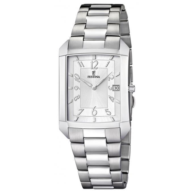 montre festina f6824 1 montre rectangulaire acier grise homme sur bijourama n 1 de la montre. Black Bedroom Furniture Sets. Home Design Ideas