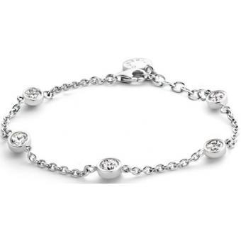 Bracelet Ti Sento Femme 2756ZI - Bracelet Ronds Strass Argent - Ti Sento