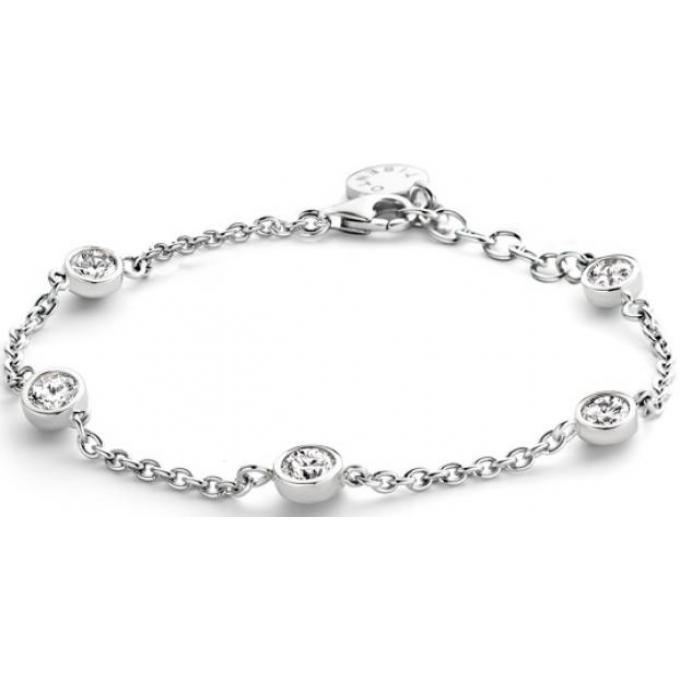 Bracelet Ti Sento Femme 2756ZI , Bracelet Ronds Strass Argent