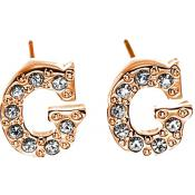 Boucles d'oreilles Guess Bijoux Logo Lettre G et Strass UBE11326 - Or