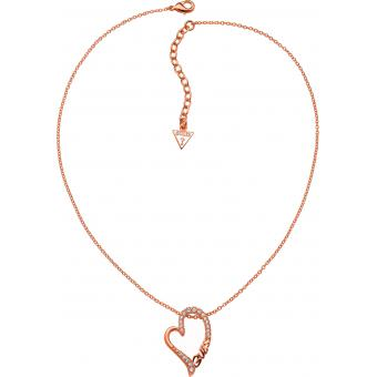 Collier et Pendentif Guess ETERNALLY YOURS UBN71295 - Collier et Pendentif Coeur et Strass Femme