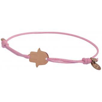 Bracelet Main de Fatma Or Rose & Lien Rose - VERY SISTERS - Very Sisters