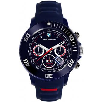 Montre Ice Watch Ice BMW Motorsport BM.CH.DBE.BB.S.13 - Montre Chrono Silicone Bleue Logo BMW Homme