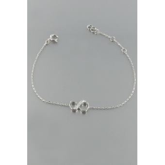 Bracelet Shiny Number 8 Argent diamants - Second Effect