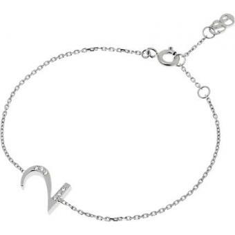 Bracelet Shiny Number 2 Argent diamants - Second Effect