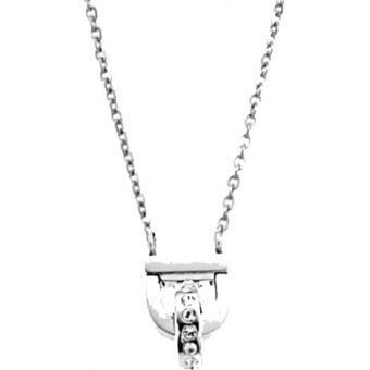 Collier et pendentif Ted Lapidus Sellier - Colliers Fantaisie Acier Argent Strass - Ted Lapidus Bijoux