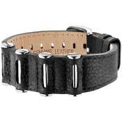 Bracelet Police Bijoux Cuir Noir Clous PJ24923BLB01