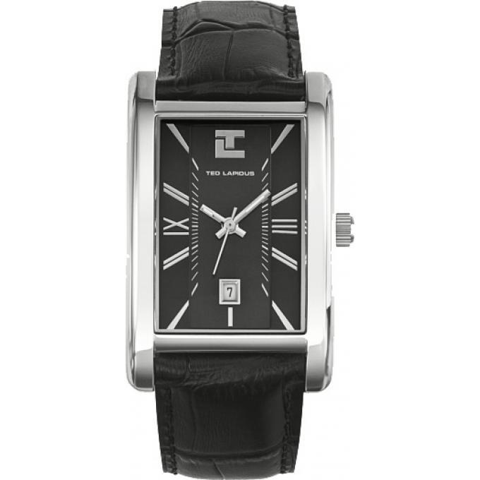 montre ted lapidus casual chic 5110201 montre rectangulaire cuir noire homme sur bijourama n. Black Bedroom Furniture Sets. Home Design Ideas