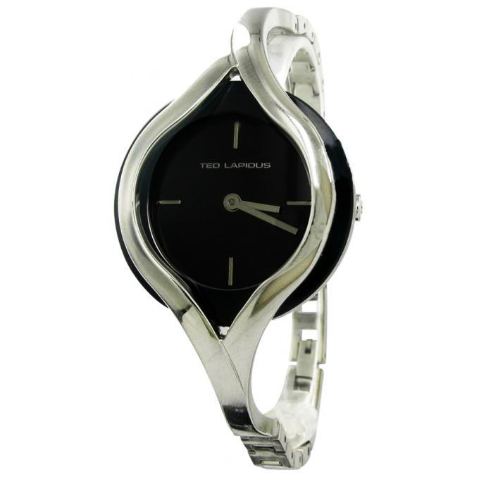 montre ted lapidus a0596rnix montre bracelet design acier  ~ Montre Bracelet Bois