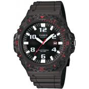 Montre Casio Collection MRW-S300H-8BVEF - Montre Sport Noire Dateur Homme