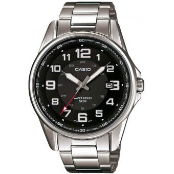 Montre Casio Collection MTP-1372D-1BVEF - Montre Acier Ronde Dateur Homme