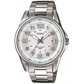 Montre Casio Collection MTP-1372D-7BVEF - Montre Acier Ronde Dateur Homme