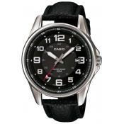 Montre Casio  Cuir Noire Dateur MTP-1372L-1BVEF - Homme
