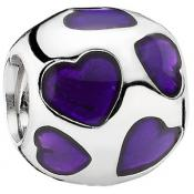 Charms Pandora Charm Coeur Violet 790543EN13 - Amour
