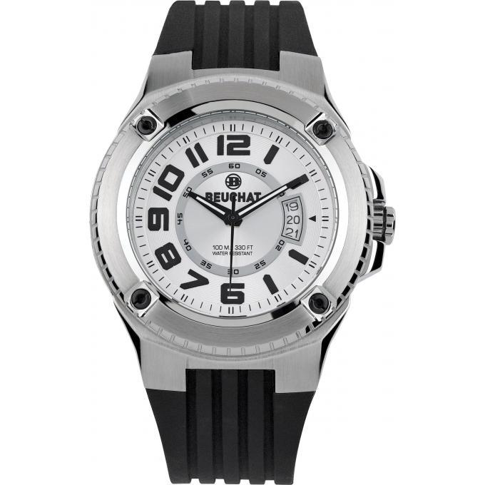 montre beuchat beu0059 4 montre cadran blanche sport homme sur bijourama n 1 de la montre. Black Bedroom Furniture Sets. Home Design Ideas