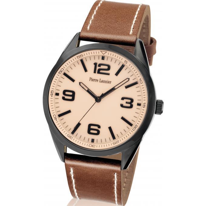 montre pierre lannier 212d404 montre cuir marron tendance homme sur bijourama montre homme. Black Bedroom Furniture Sets. Home Design Ideas