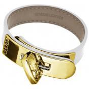 Bracelet Guess Bijoux Blanc Chic Cuir UBB21317