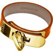 Bracelet Guess Bijoux Orange Chic Cuir UBB21320