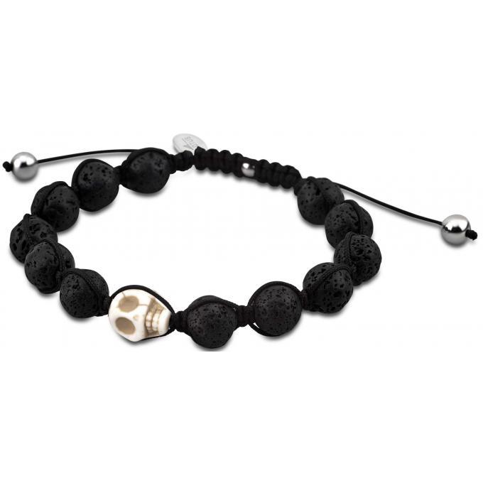 bracelet lotus style ls3019 2 1 bracelet noir t te de. Black Bedroom Furniture Sets. Home Design Ideas