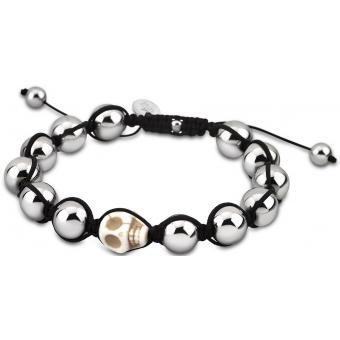 Bracelet Lotus Style LS3019-2-2 - Bracelet Shamballa Perle Argent Homme