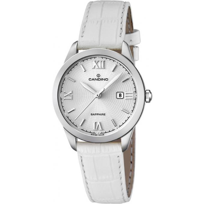montre candino c4528 1 montre acier blanche analogique homme sur bijourama montre homme pas. Black Bedroom Furniture Sets. Home Design Ideas