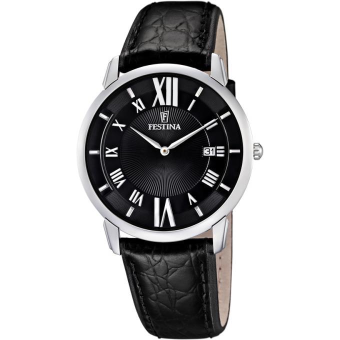 montre festina f6813 2 montre noir classique cuir homme sur bijourama montre homme pas cher. Black Bedroom Furniture Sets. Home Design Ideas