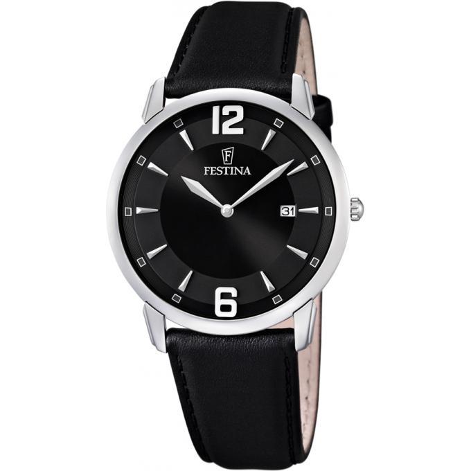 montre festina f6813 6 montre cuir noire classique homme sur bijourama montre homme pas cher. Black Bedroom Furniture Sets. Home Design Ideas