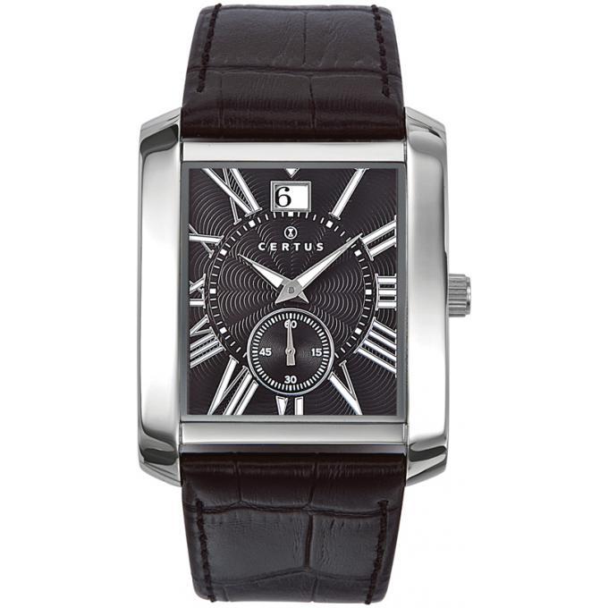 montre certus 610984 montre marron chiffre romain homme sur bijourama n 1 de la montre homme. Black Bedroom Furniture Sets. Home Design Ideas