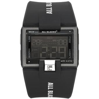 Montre All Blacks 680128 - Montre Noire Digitale Rectangulaire Homme