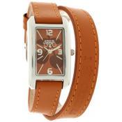 Montre Le Temps Des Cerises Marron Bracelet Double TC78BRC